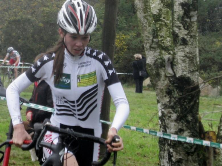 Marie LE NET lors des championnats du Morbihan