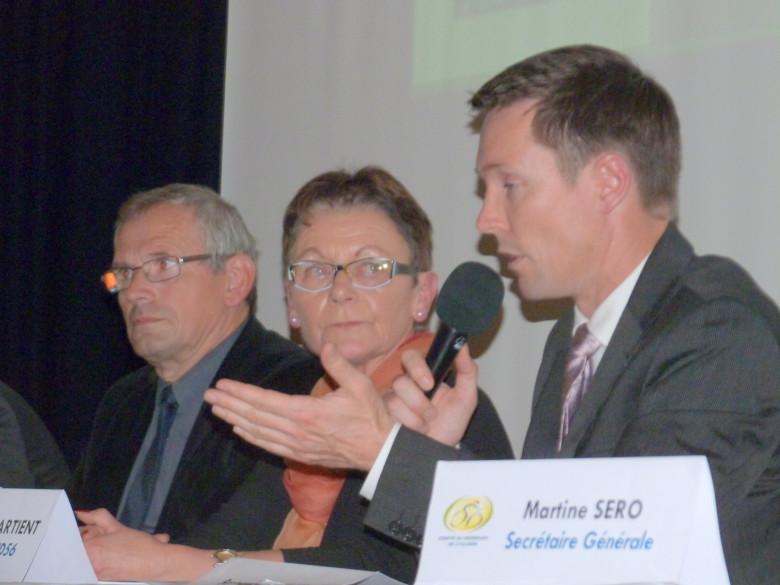 Marie Jo LE BRETON vice Présidente du conseil Départemental et Didier MARCHAND Président du Comité de Bretagne aux côté de Jérôme LAPPARTIENT